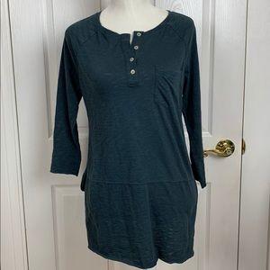 Sanctuary long sleeve blue shirt